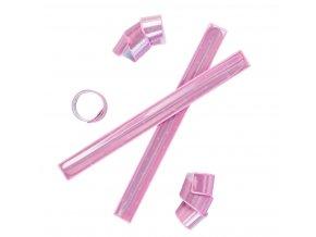 Reflexní páska růžová
