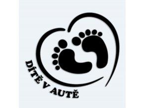 Samolepka Dítě v autě - srdce