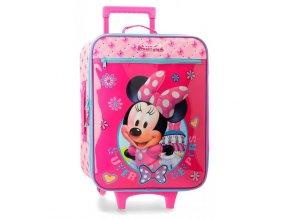Textilní kufr Minnie Mouse růžový 01