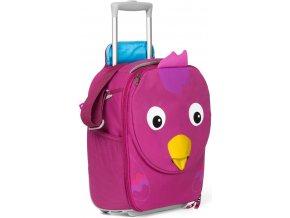 Dětský cestovní kufřík Affenzahn fialový ptáček