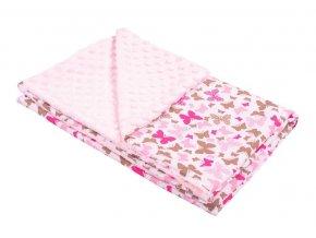 Dětská deka z Minky New Baby růžová 0