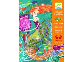 Kreativní sada pískování - Mořské panny, djeco třpytky