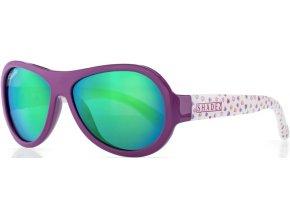 Dětské sluneční brýle Shadez Designers fialové se srdíčky