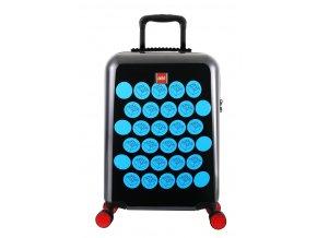 LEGO kufr ColourBox Brick Dots - Černý/Modrý, 40 l