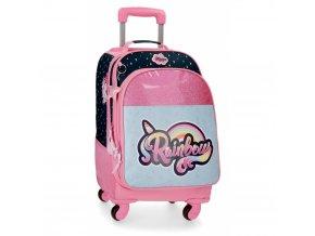 Cestovní kufr / batoh na kolečkách Movom Rainbow