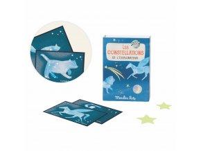 souhvezdi na kartach a hvezdicky pro děti
