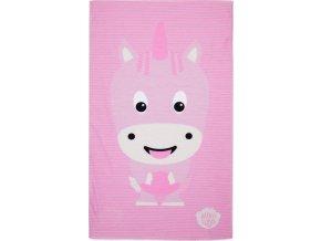 Dětský nákrčník Affenzahn Unicorn, jednorožec, růžový