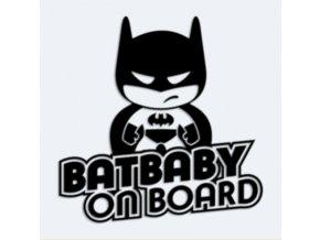 Samolepka Dítě v autě -  Batbaby on board