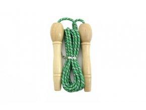 Švihadlo s dřevěnou rukojetí zelená