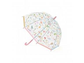 Dětský deštník ptáci V letu růžový