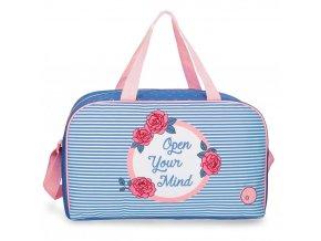 Cestovní taška Roll Road Rose modro bílá dívčí