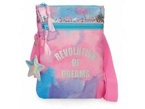 Taška přes rameno Movom Revolution Dreams růžová batika kabelka