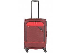 Cestovní kufr TRAVELITE DERBY 4W M RED červený textilní