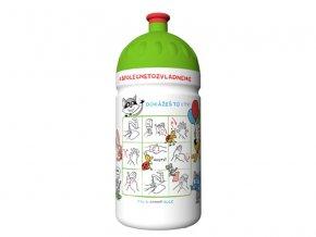Zdravá lahev Mýval 0,5 l, postup umývání rukou