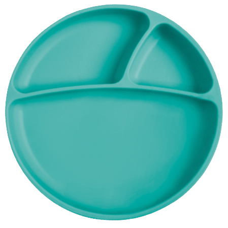 Tanier delený silikónový s prísavkou - Green