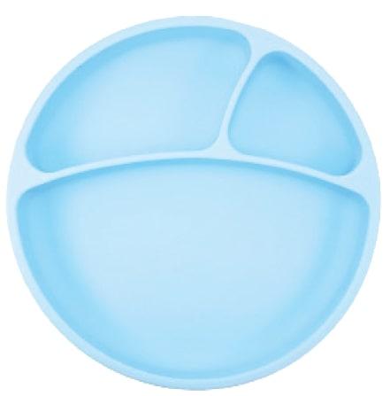 Tanier delený silikónový s prísavkou - Blue