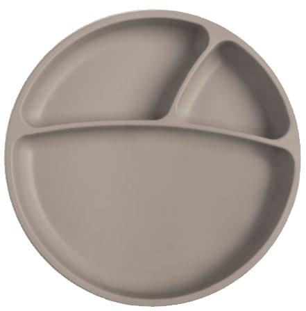 Tanier delený silikónový s prísavkou - Grey