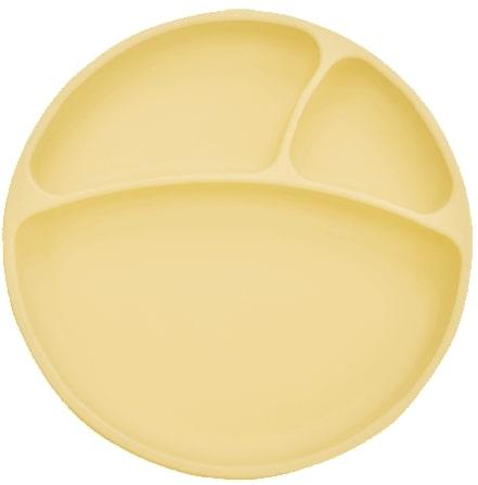 Tanier delený silikónový s prísavkou - Yellow