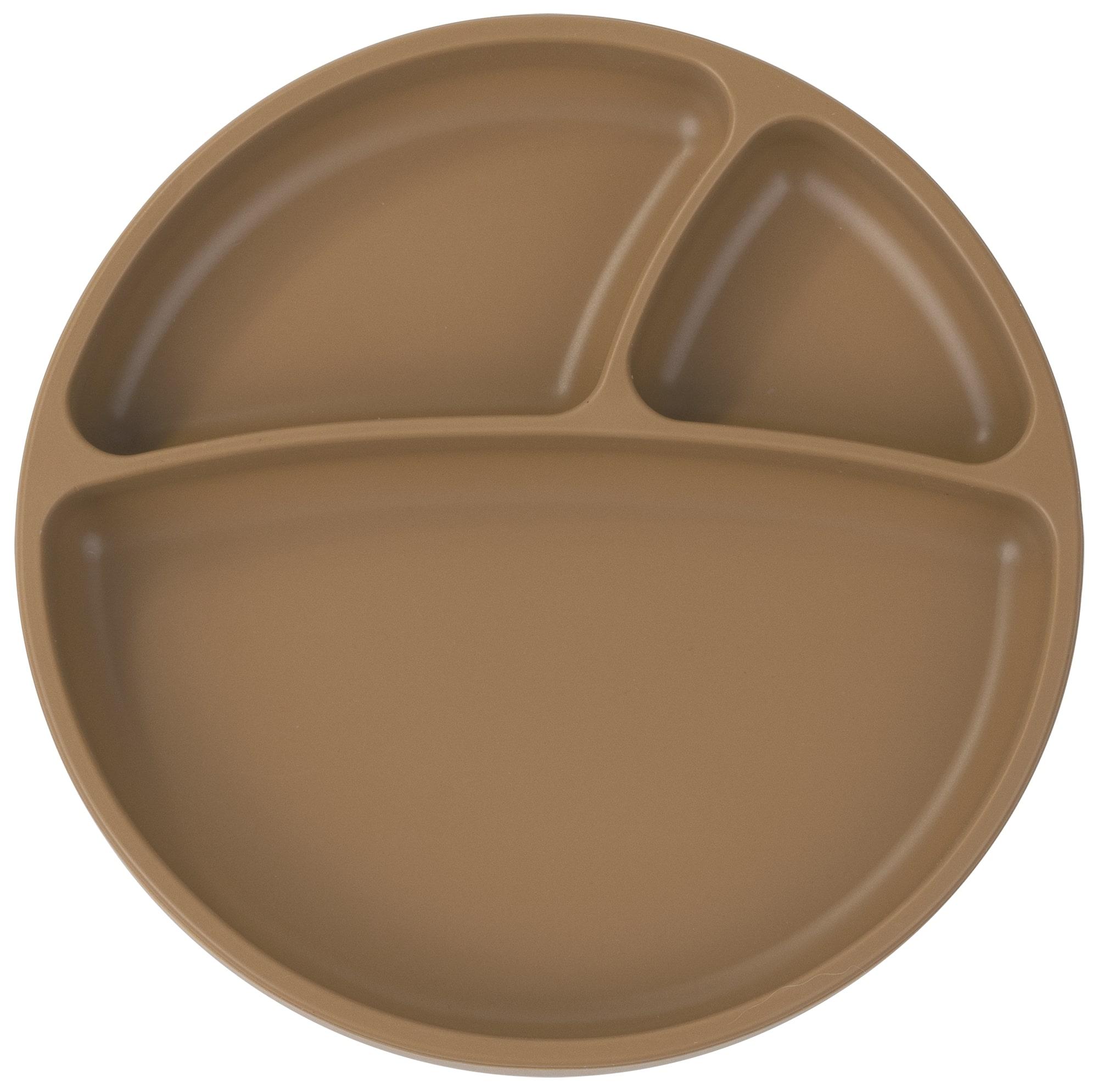 Tanier delený silikónový s prísavkou - Woody Brown