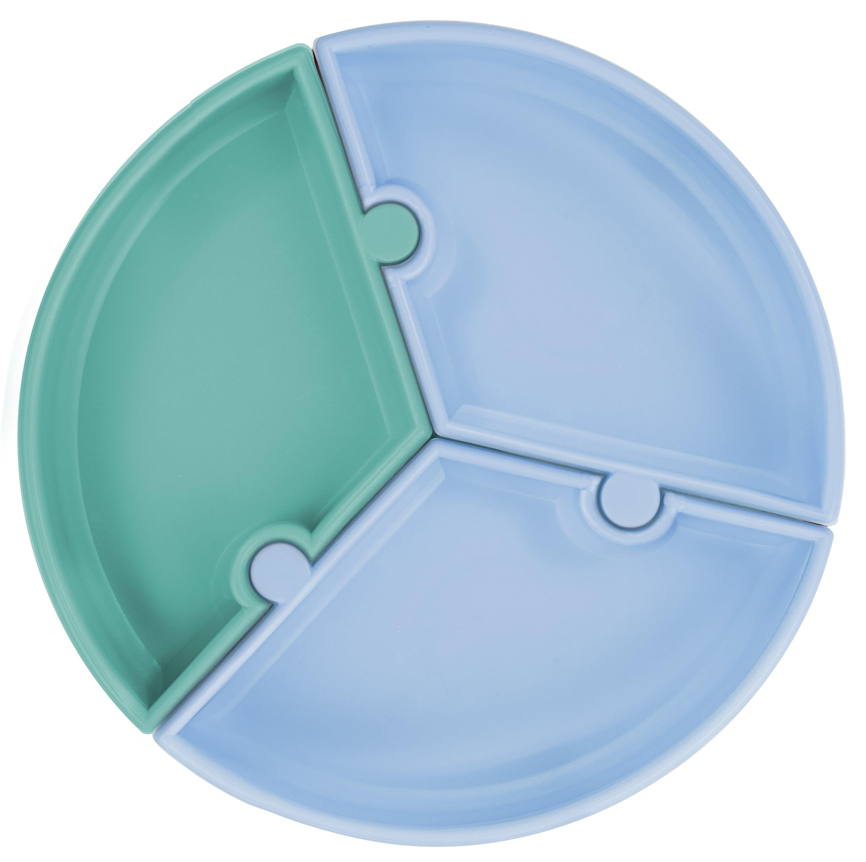 Tanier Puzzle silikónový s prísavkou - Green / Blue