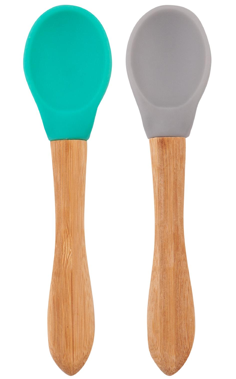 Lyžička s bambusovou rukoväťou 2ks - Green / Grey