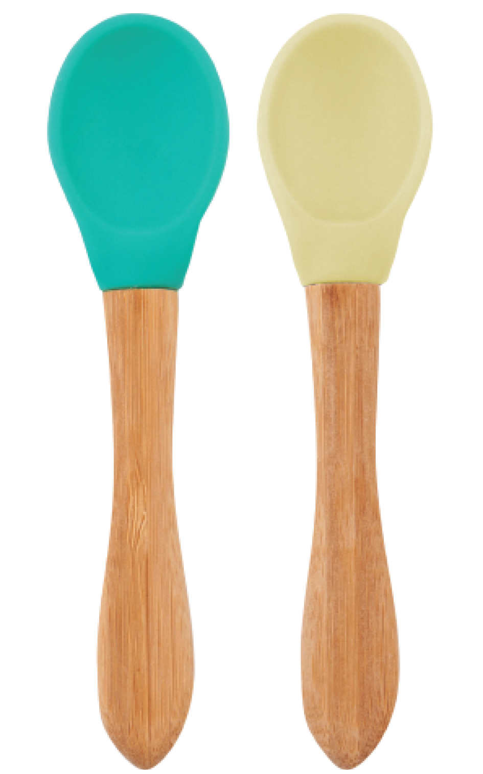 Lyžička s bambusovou rukoväťou 2ks - Green / Yellow