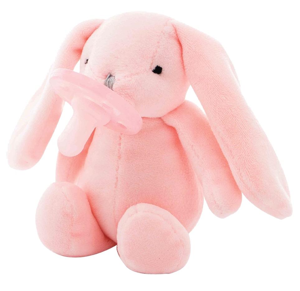 Uspávačik s cumlíkom Zajačik ružový