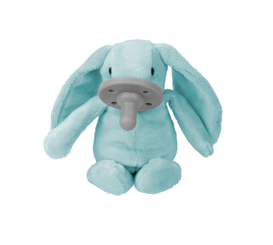 Uspávačik s cumlíkom Zajačik modrý