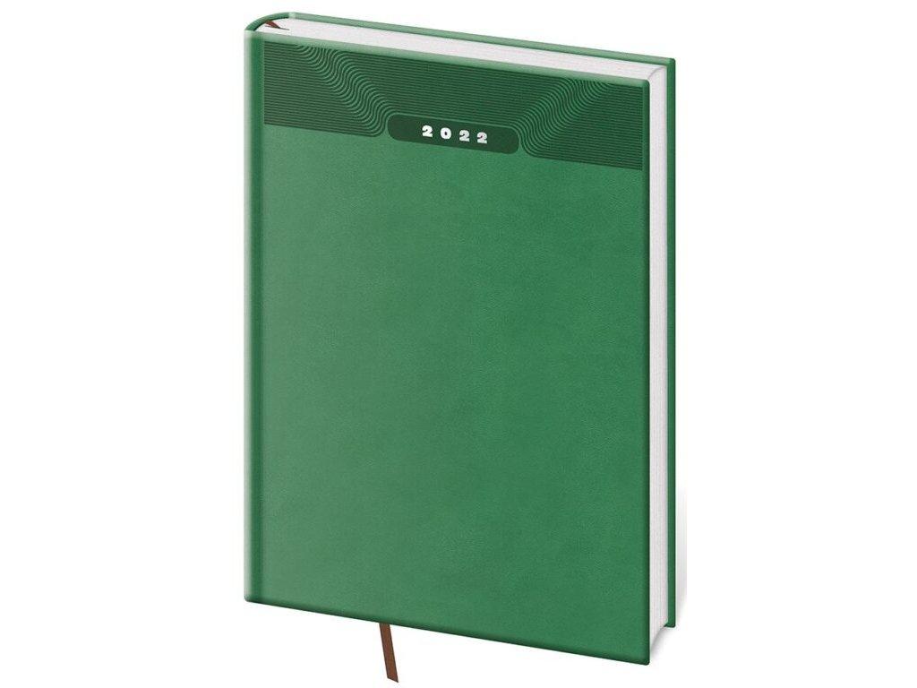 Týždenný diár A5 Print zelený