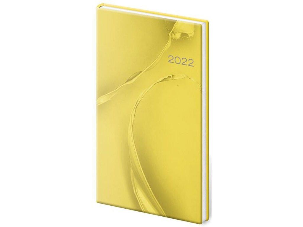 Vreckový diár Vario Yellow design