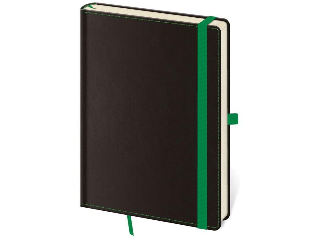 Zápisník Black Green L linajkový
