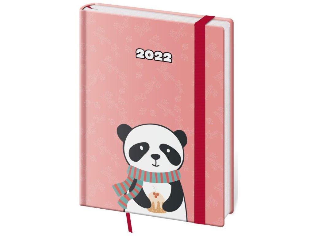 Týždenný diár B6 Vario Panda s gumičkou