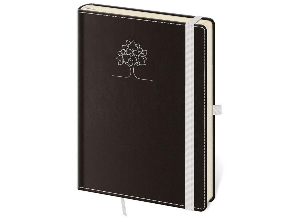 Zápisník Black White L linajkový