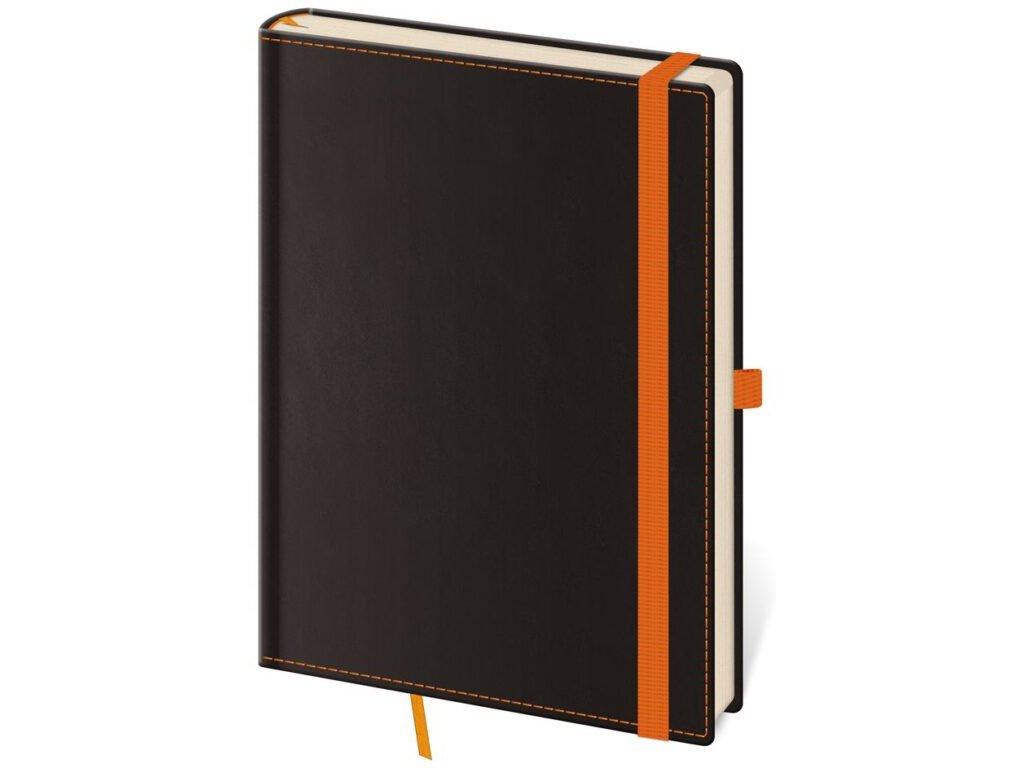 Zápisník Black Orange L linajkový