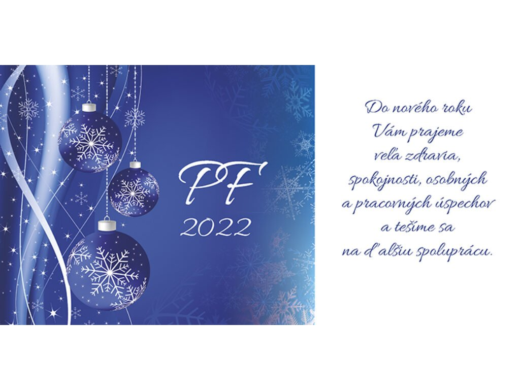 PF - karta s textom na objednávku