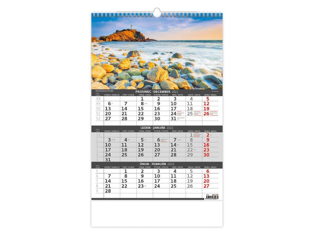 Trojmesačný kalendár Pobrežie