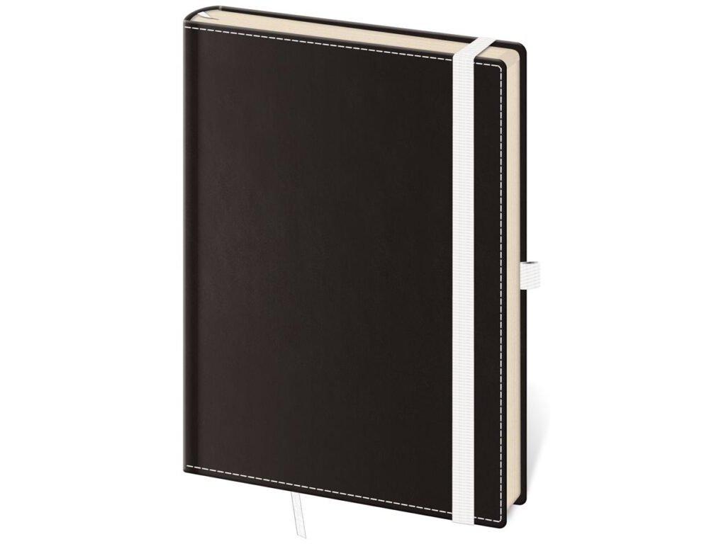 Zápisník Black White M linajkový