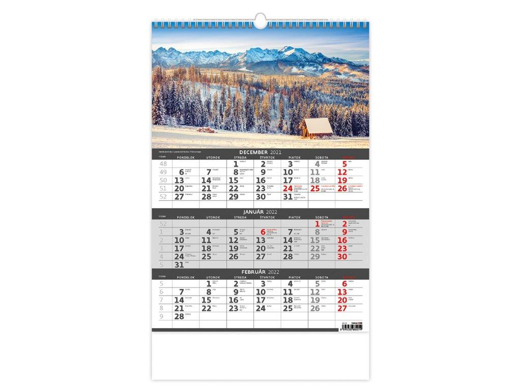 Kalendár Slovensko - trojmesačné