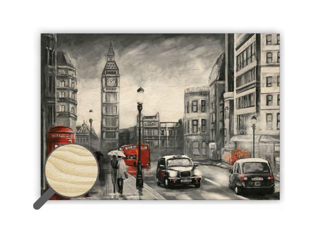Drevený obraz London
