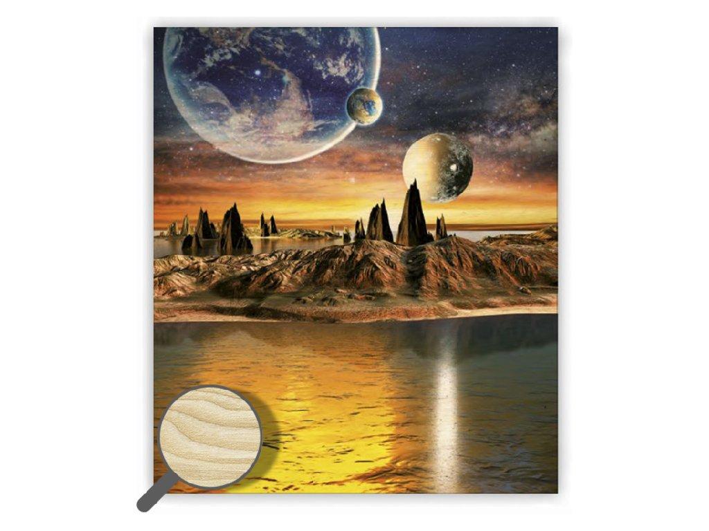 Drevený obraz Cosmic
