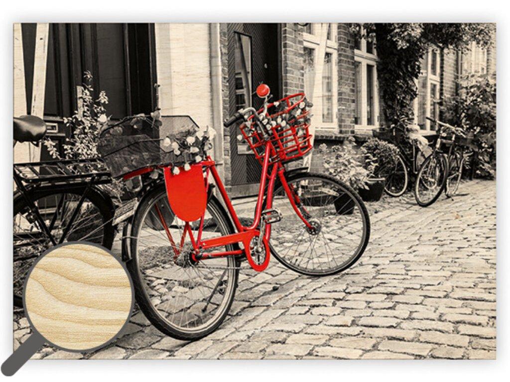 Drevený obraz Bicycle