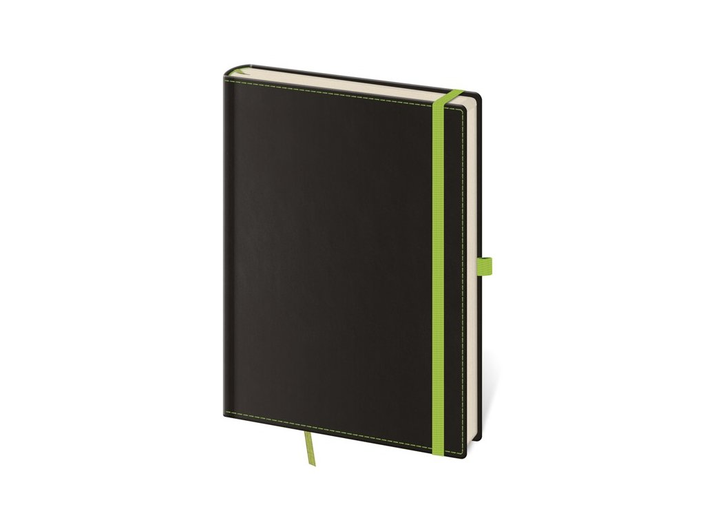 Zápisník Black Green M bodkovaný