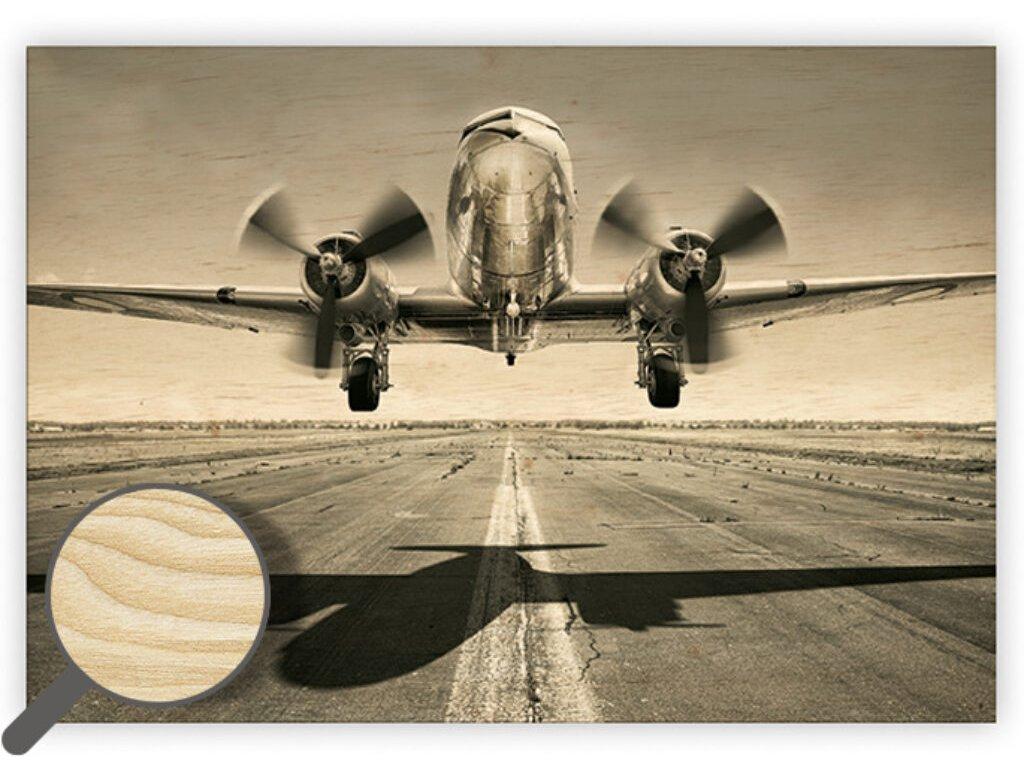 Drevený obraz Airplane