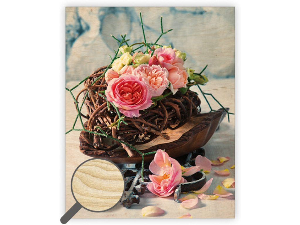 Drevený obraz Roses
