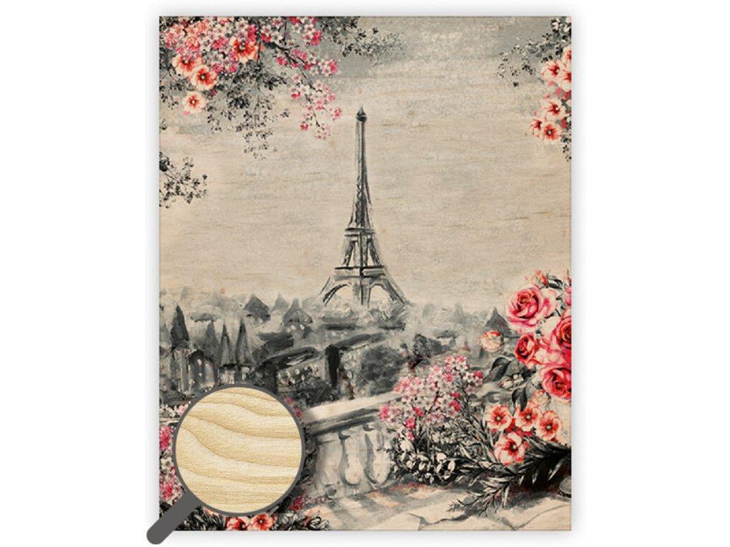 Drevený obraz Eiffel Tower