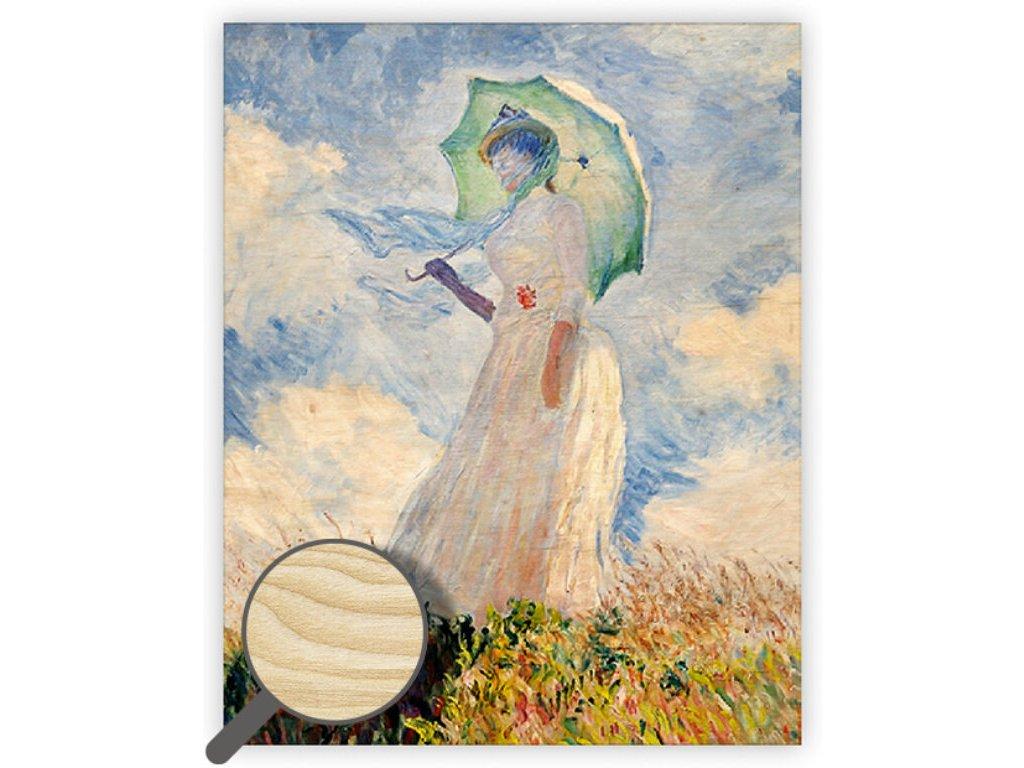 Drevený obraz Monet