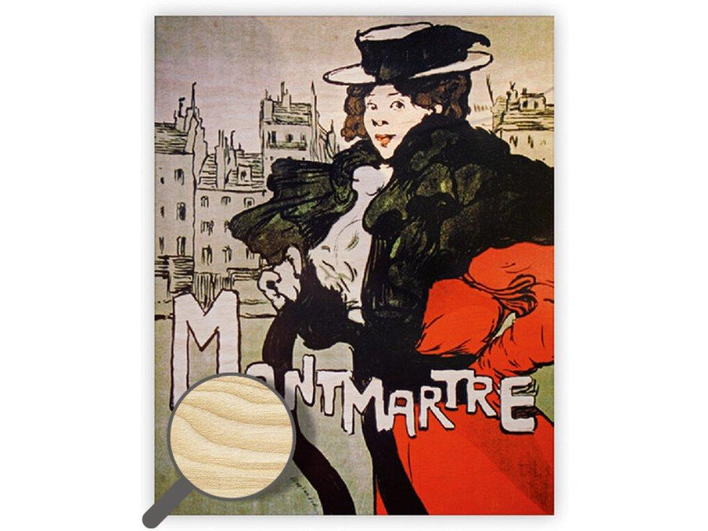 Drevený obraz Montmartre