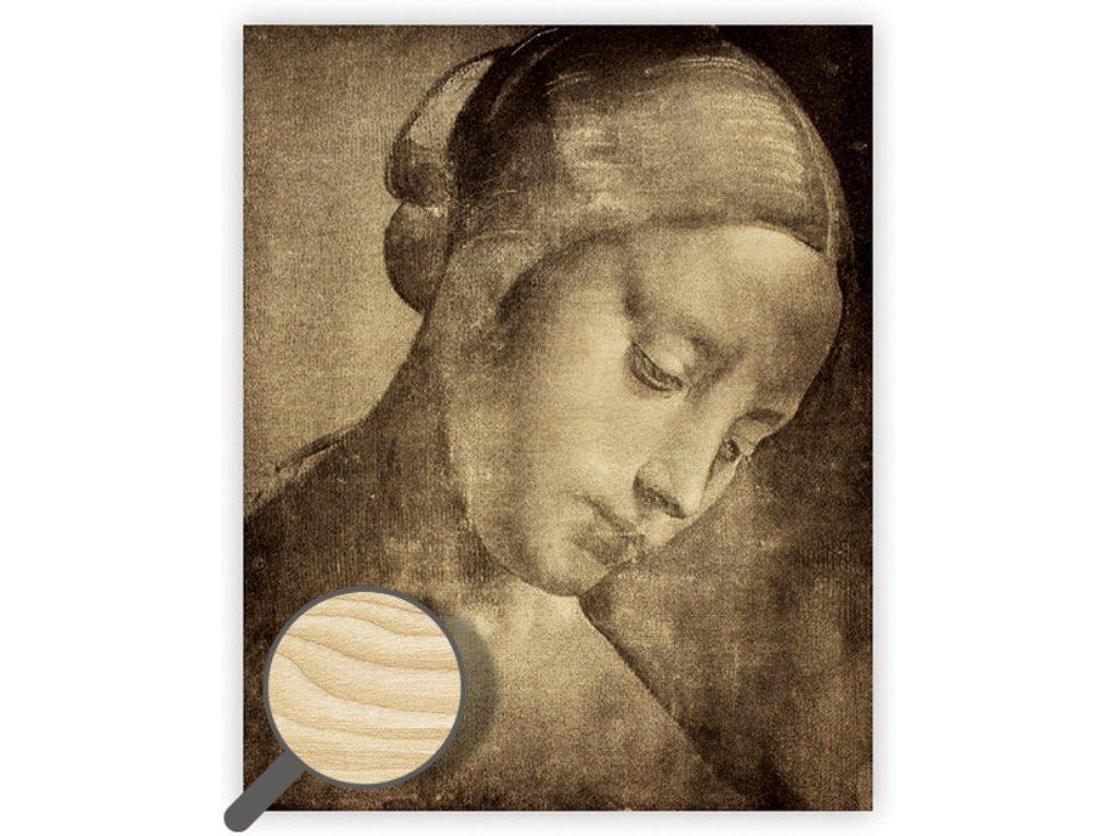 Drevený obraz Da Vinci