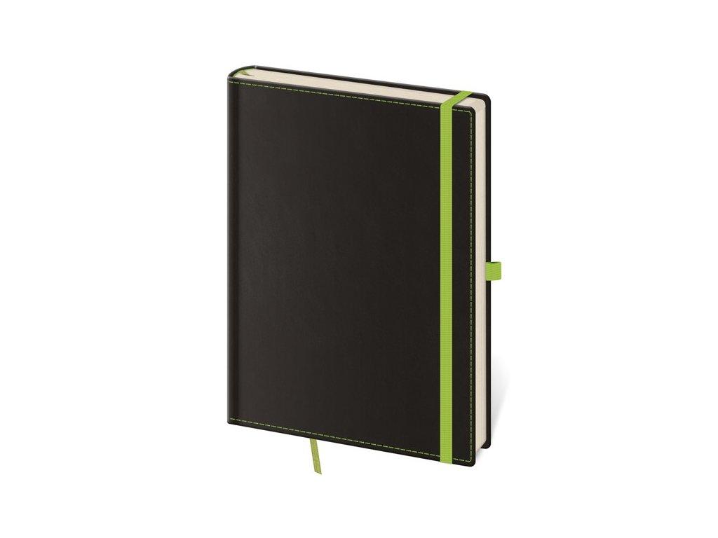 Zápisník Black Green S linajkový