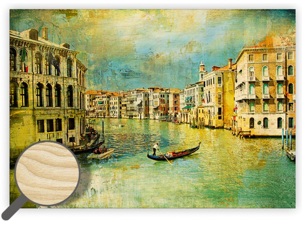 Drevený obraz Venezia IV.